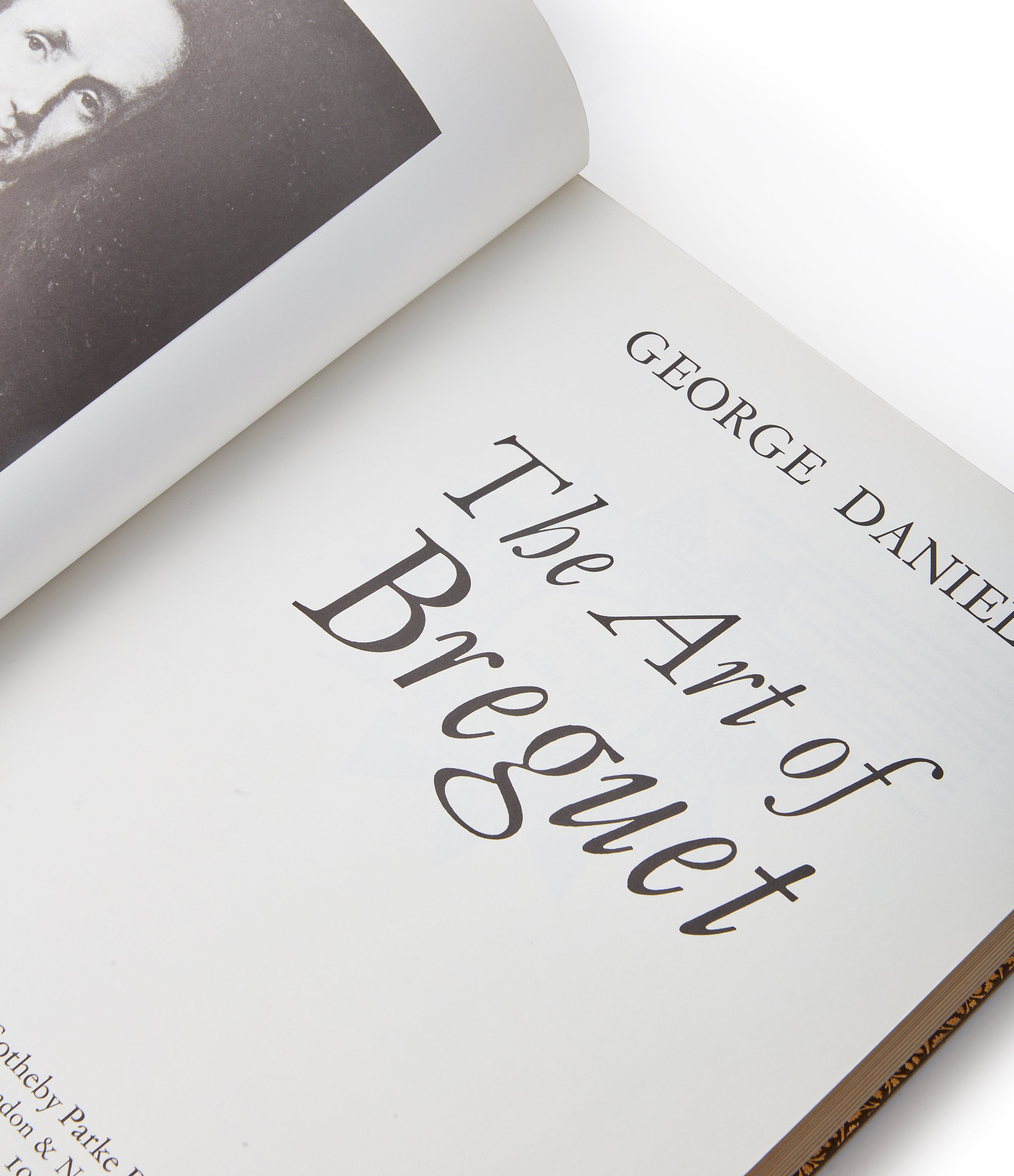 George Daniels CBE watchmaker's book on The Art of Breguet rare specialy-bound first edition book signed and gifted by the author at A Collected Man London