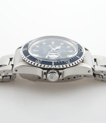 Tudor Submariner Prince Oysterdate 76100 steel automatic vintage pre-owned watch with blue dial and steel strap