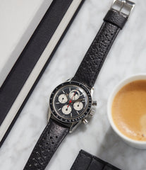rare vintage watch Eric Clapton 881101/02 Universal Geneve Tri-Compax black dial vintage steel chronograph for sale online at A Collected Man London UK specialist of rare watches