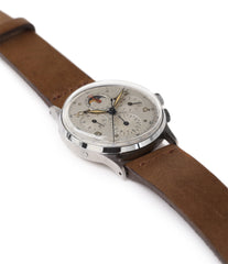 selling Universal Geneve Tri-Compax 22279 vintage steel chronograph triple calendar watch at A Collected Man London online vintage watch specialist