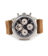 buy Universal Geneve Tri-Compax 22297 black dial vintage chronograph steel watch online at A Collected Man London for sale