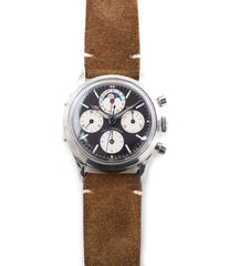 for sale Universal Geneve Tri-Compax 22297 black dial vintage chronograph steel watch online at A Collected Man London