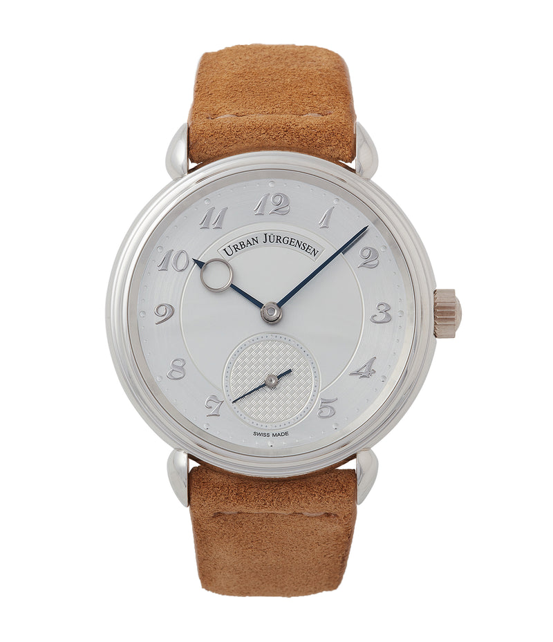 buy Urban Jurgensen 1140 PT Silver dial watch online at A Collected Man London independent watchmaker specialist authorised retailer in the UK