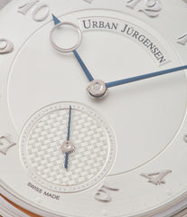 silver dial Urban Jurgensen 1140 PT Silver dial watch online at A Collected Man London independent watchmaker specialist authorised retailer in the UK