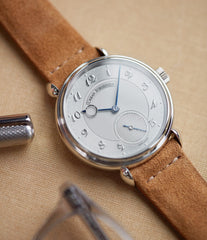 authorised retailer Urban Jurgensen 1140 PT Silver dial watch online at A Collected Man London independent watchmaker specialist authorised retailer in the UK