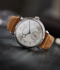 buy new Urban Jurgensen 1140 PT Silver dial watch online at A Collected Man London independent watchmaker specialist authorised retailer in the UK