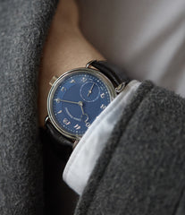 wristwatch Urban Jurgensen 1140 PT blue dial time-only dress watch for sale online at A Collected Man London UK authorised retailer for independent watchmakers