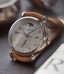 shop Urban Jurgensen 1741 PT Perpetual Calendar Moonphase platinum new watch online at A Collected Man London authorised UK retailer rare independent watches