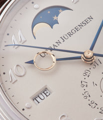 1741 Urban Jurgensen Perpetual Calendar Moonphase platinum new watch online at A Collected Man London authorised UK retailer rare independent watches