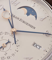moon phase Urban Jurgensen 1741 PT Perpetual Calendar platinum new watch online at A Collected Man London authorised UK retailer rare independent watches