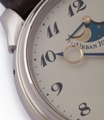 2340 Urban Jurgensen  Moonphase white gold watch online at A Collected Man London authorised retailer independent watchmaker specialist UK