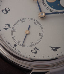 shop Urban Jurgensen 2340 WG Jules Moonphase white gold watch online at A Collected Man London authorised retailer independent watchmaker specialist UK
