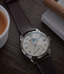 buy new Urban Jurgensen 2340 WG Jules Moonphase white gold watch online at A Collected Man London authorised retailer independent watchmaker specialist UK