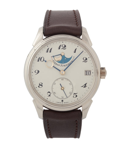 buy Urban Jurgensen 2340 WG Jules Moonphase white gold watch online at A Collected Man London authorised retailer independent watchmaker specialist UK