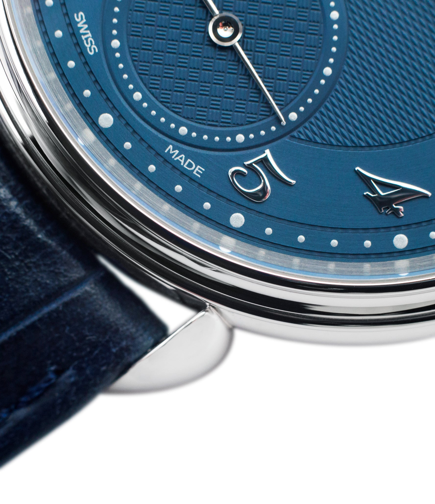 platinum watch Urban Jurgensen 1140 PT Blue dial watch online at A Collected Man London independent watchmaker specialist authorised retailer in the UK
