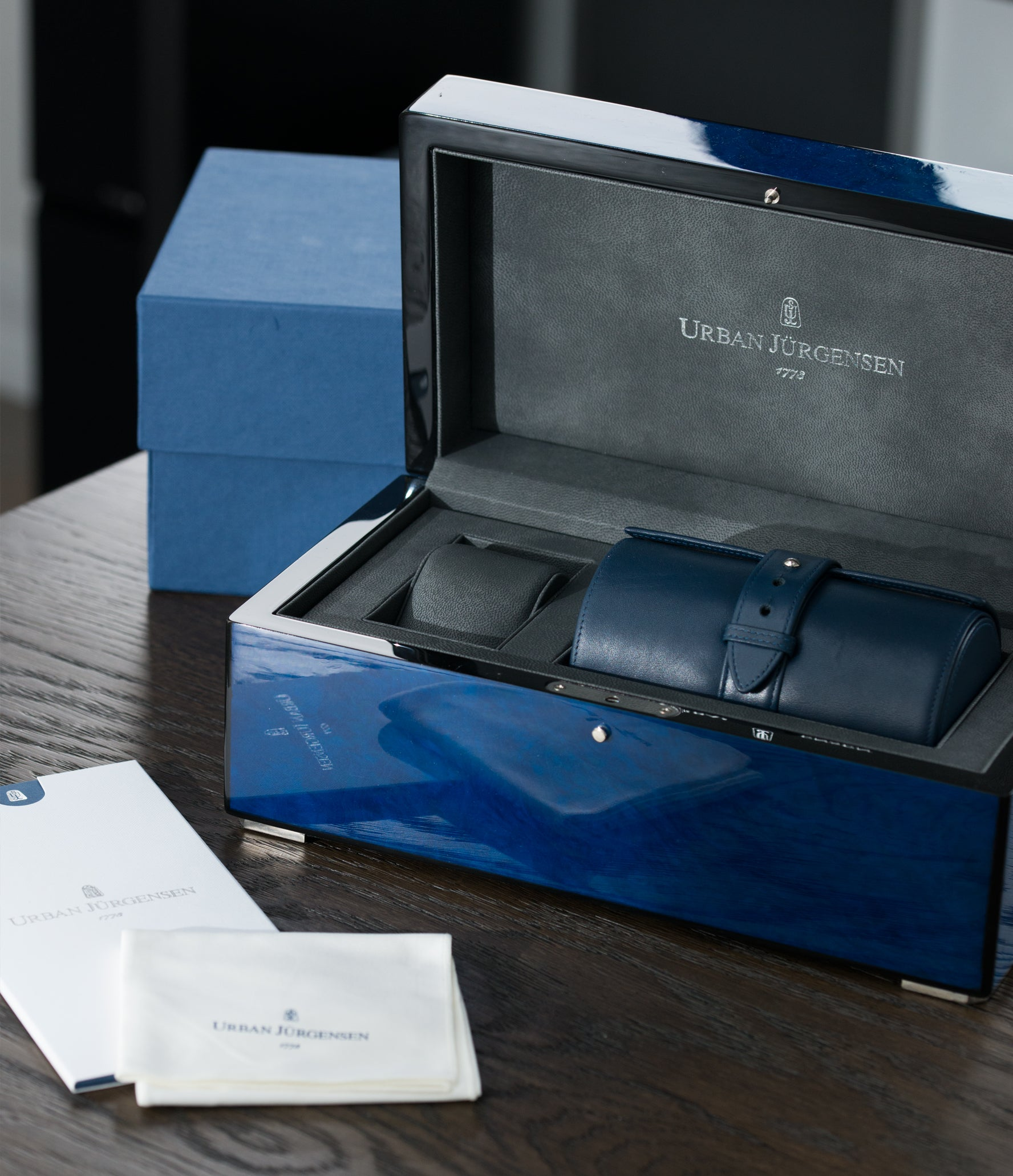 buy new Urban Jurgensen 1140 PT Blue dial watch online at A Collected Man London independent watchmaker specialist authorised retailer in the UK