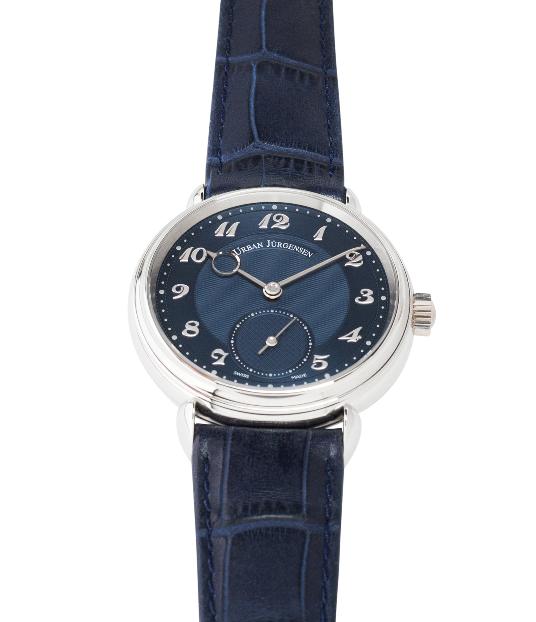 1140 Urban Jurgensen platinum Blue dial watch online at A Collected Man London independent watchmaker specialist authorised retailer in the UK