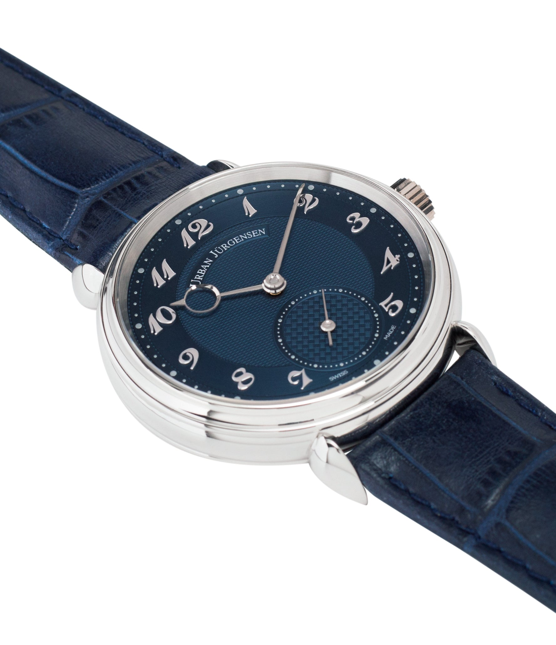 selling Urban Jurgensen 1140 PT Blue dial watch online at A Collected Man London independent watchmaker specialist authorised retailer in the UK