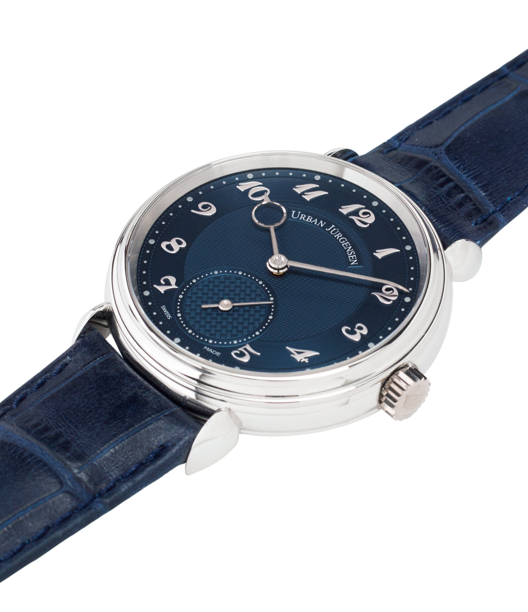 for sale Urban Jurgensen 1140 PT Blue dial watch online at A Collected Man London independent watchmaker specialist authorised retailer in the UK