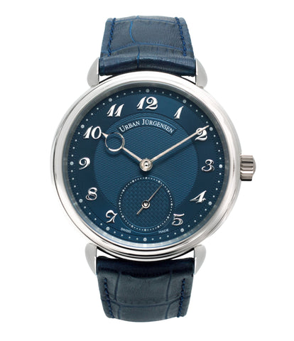 buy Urban Jurgensen 1140 PT Blue dial watch online at A Collected Man London independent watchmaker specialist authorised retailer in the UK