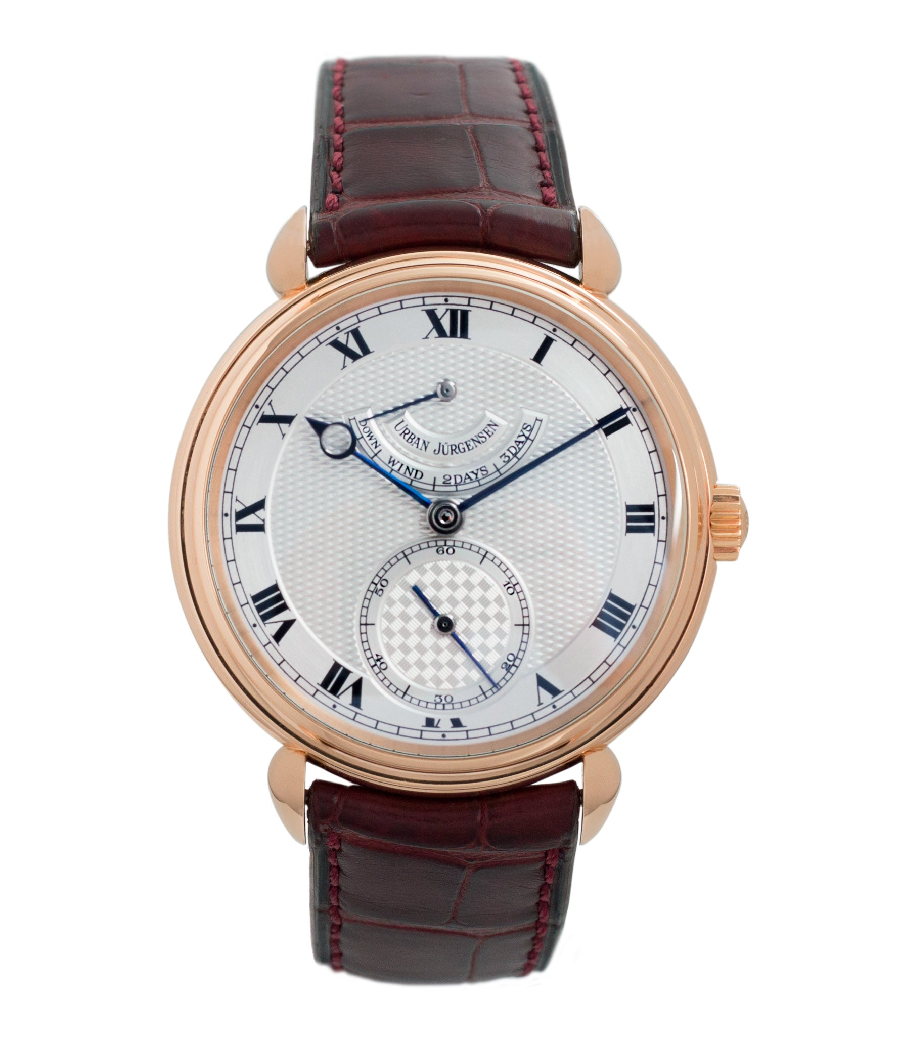 buy Urban Jurgensen 11L prototype rose gold watch full set at A Collected Man London United Kingdom online specialist of independent watchmakers