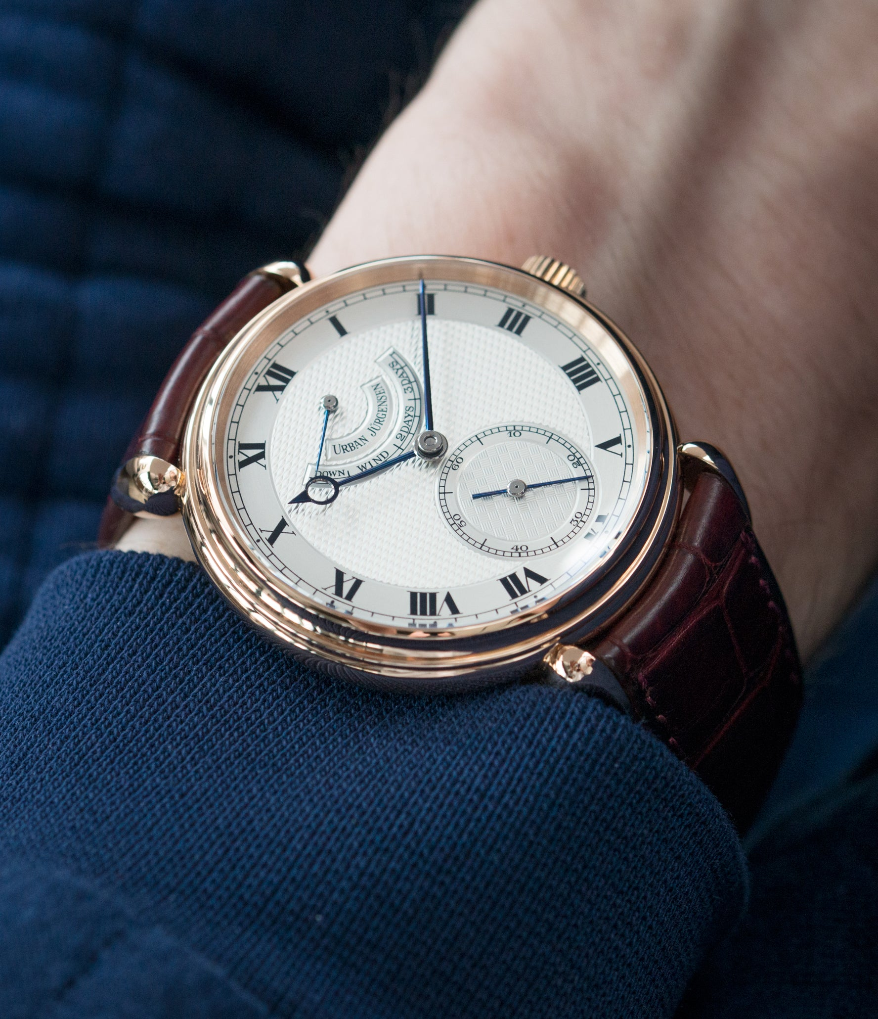 luxury gentlemen wristwatch Urban Jurgensen 11L rose gold watch full set at A Collected Man London United Kingdom online specialist of independent watchmakers