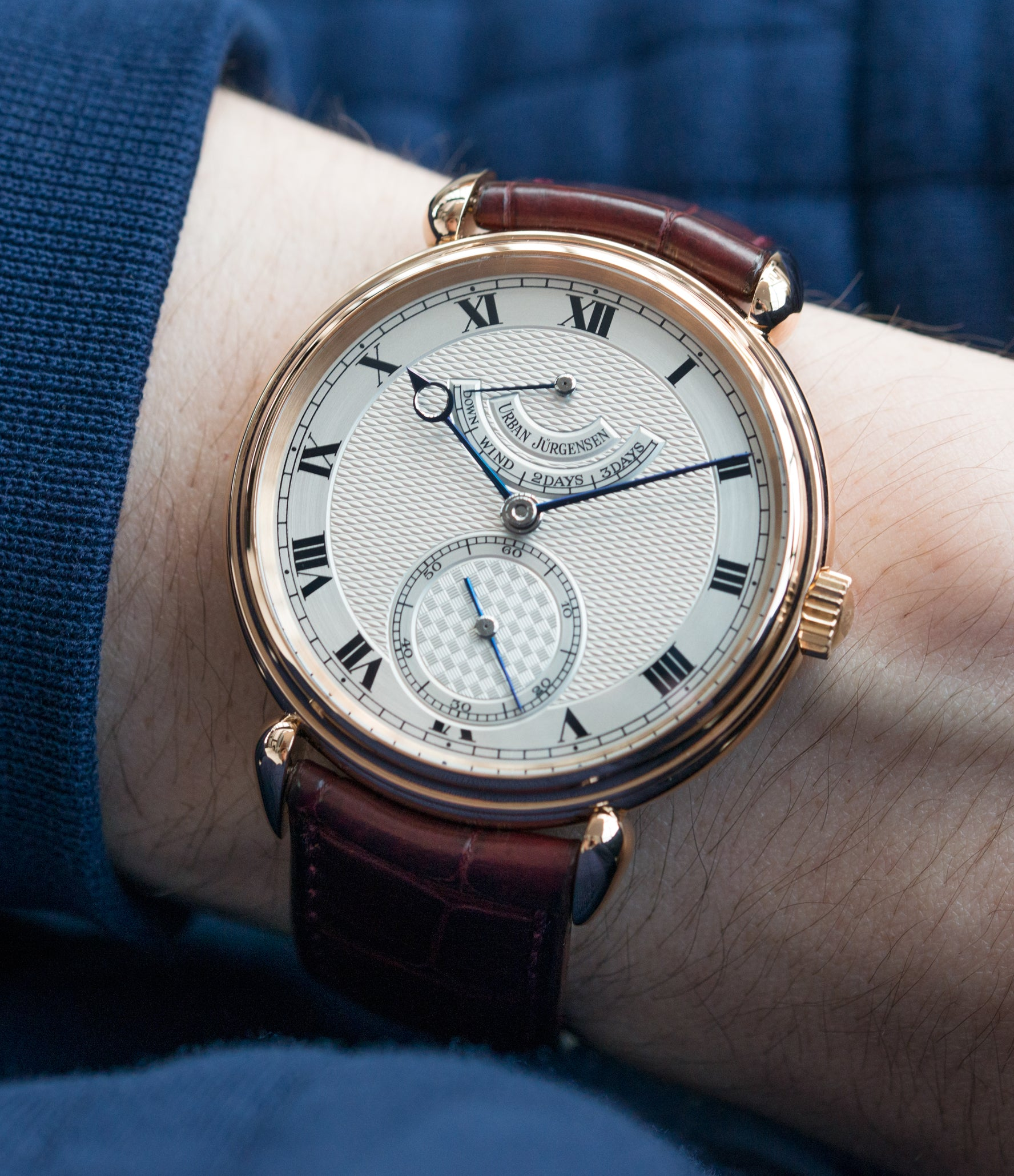 for sale preowned Urban Jurgensen 11L prototype rose gold watch full set at A Collected Man London United Kingdom online specialist of independent watchmakers