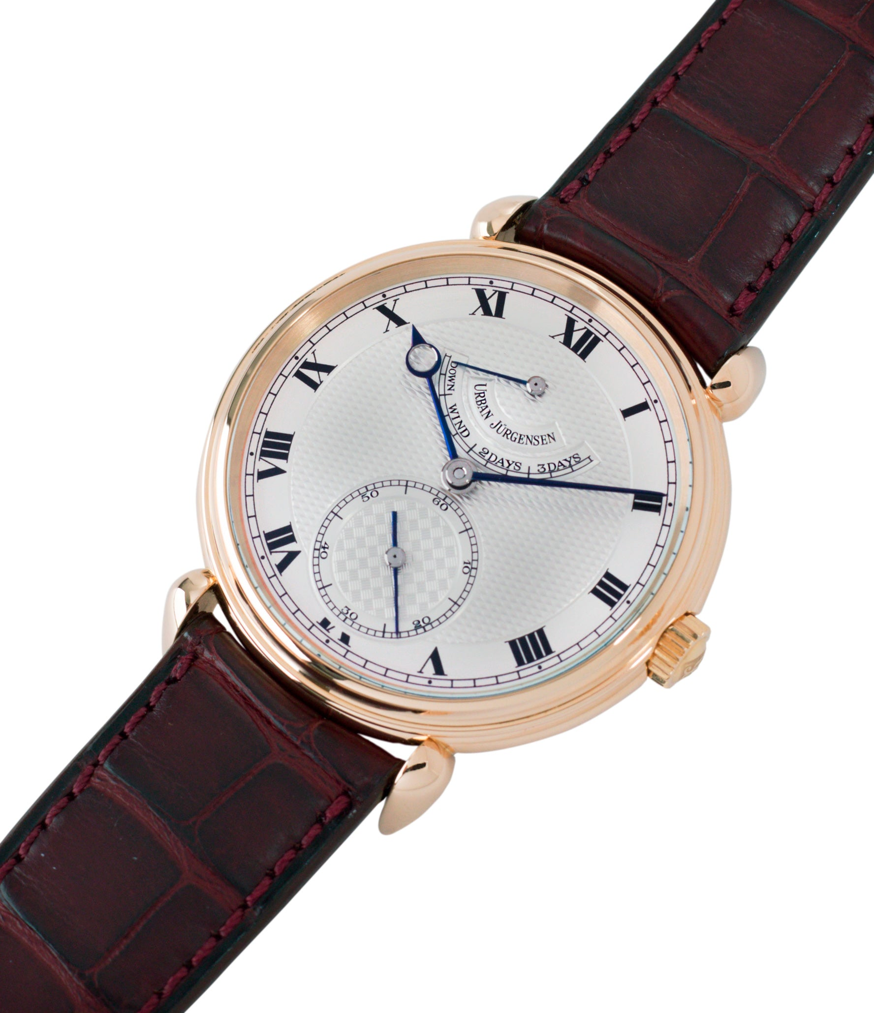 buy preowned Urban Jurgensen 11L prototype rose gold watch full set at A Collected Man London United Kingdom online specialist of independent watchmakers