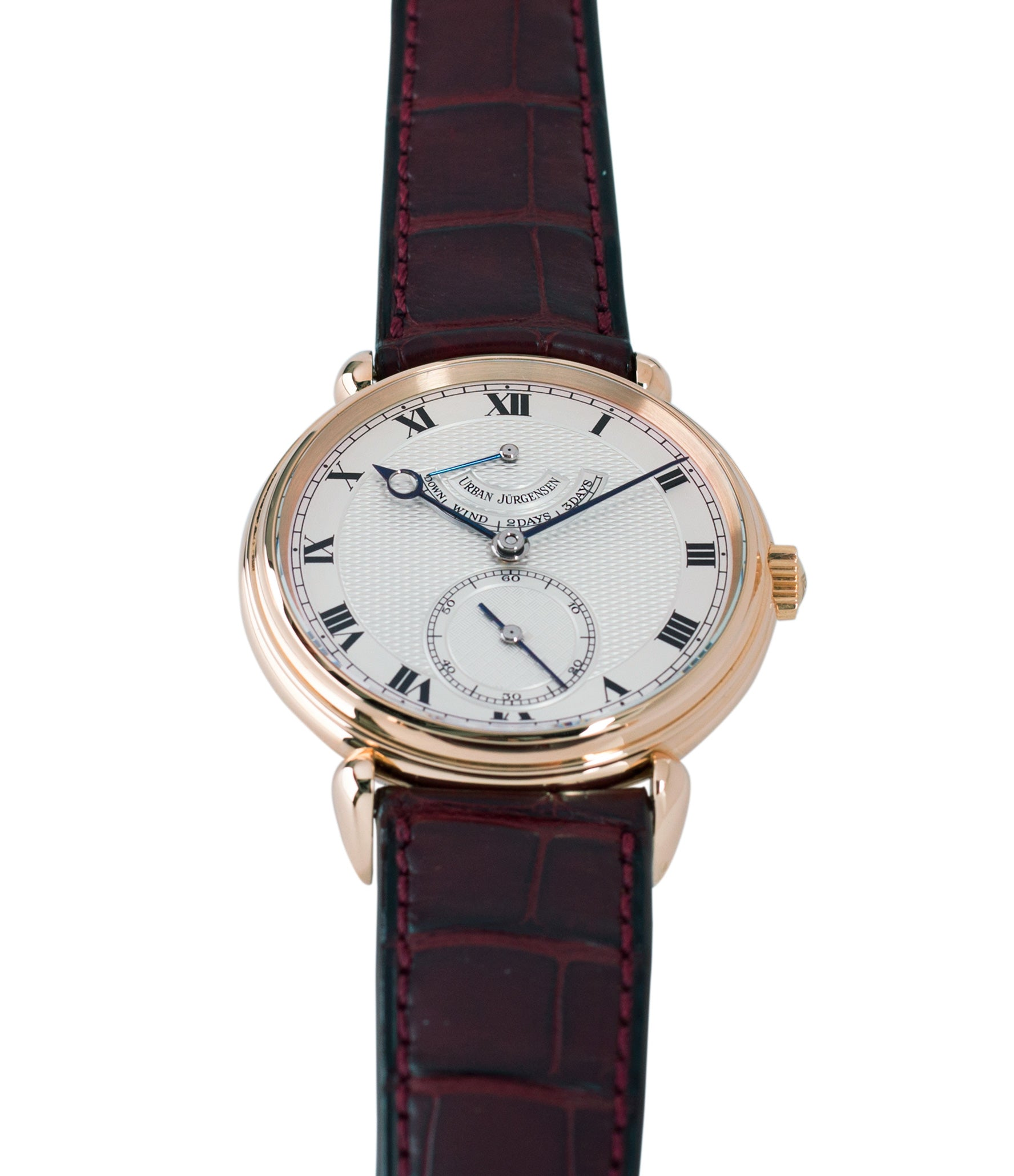 selling prototype Urban Jurgensen 11L rose gold watch full set at A Collected Man London United Kingdom online specialist of independent watchmakers