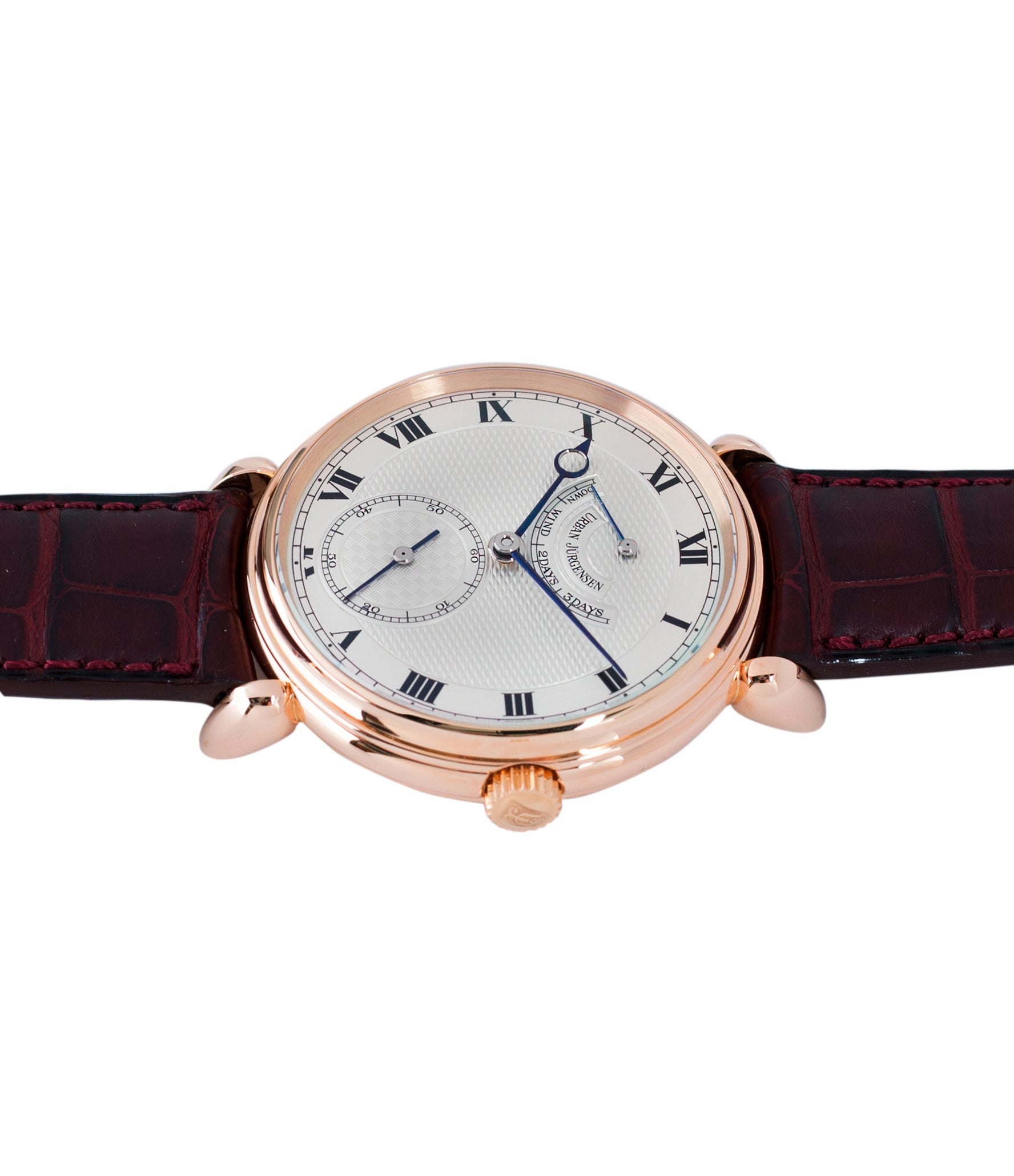 buy prototype Urban Jurgensen 11L rose gold watch full set at A Collected Man London United Kingdom online specialist of independent watchmakers