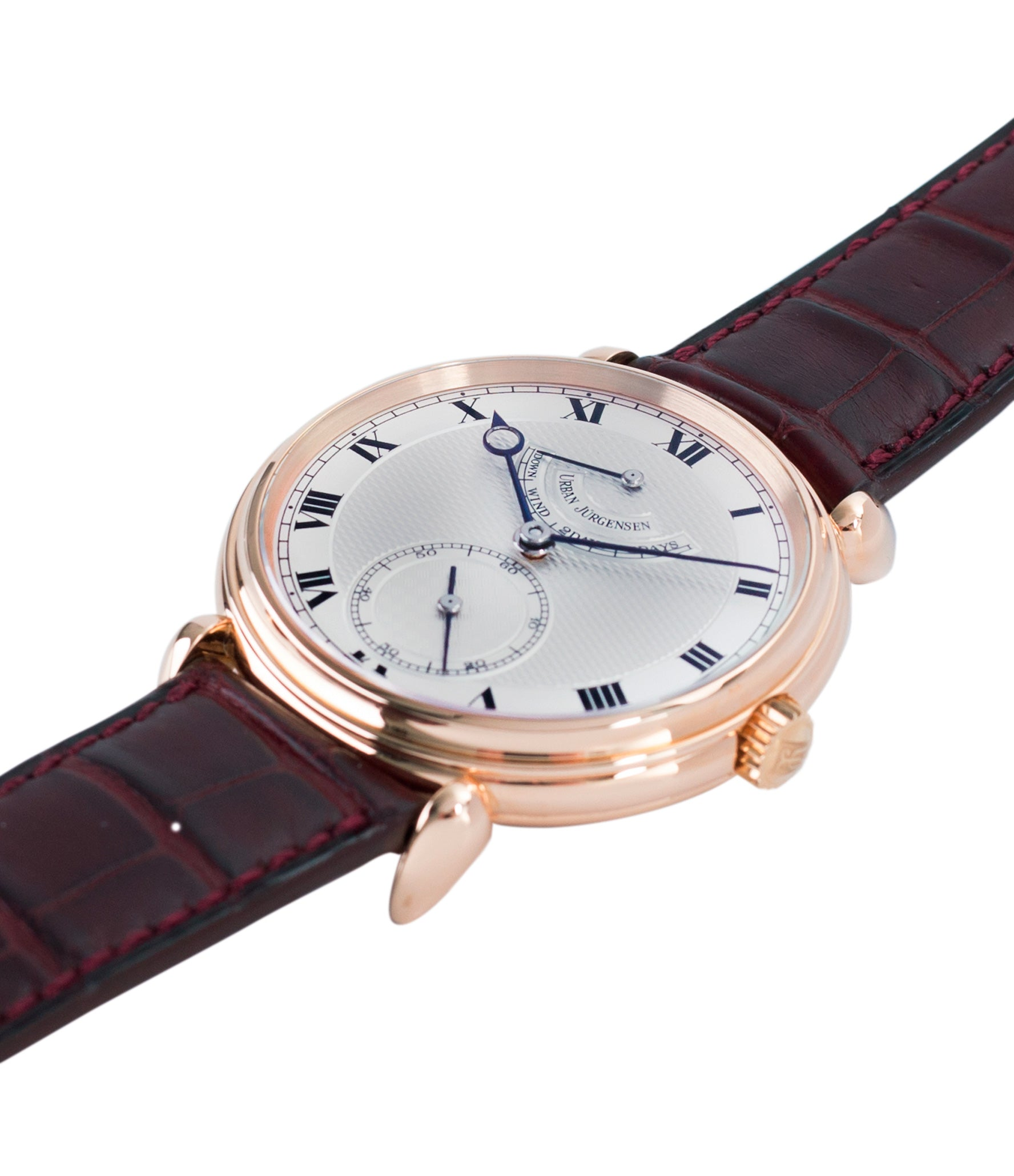 for sale prototype Urban Jurgensen 11L rose gold watch full set at A Collected Man London United Kingdom online specialist of independent watchmakers