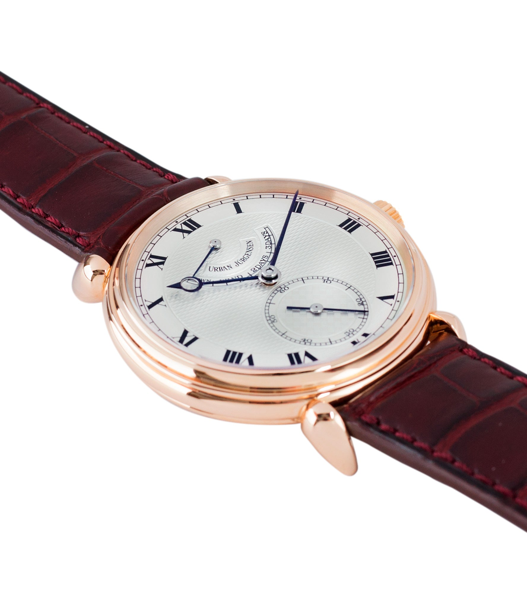selling preowned Urban Jurgensen 11L prototype rose gold watch full set at A Collected Man London United Kingdom online specialist of independent watchmakers