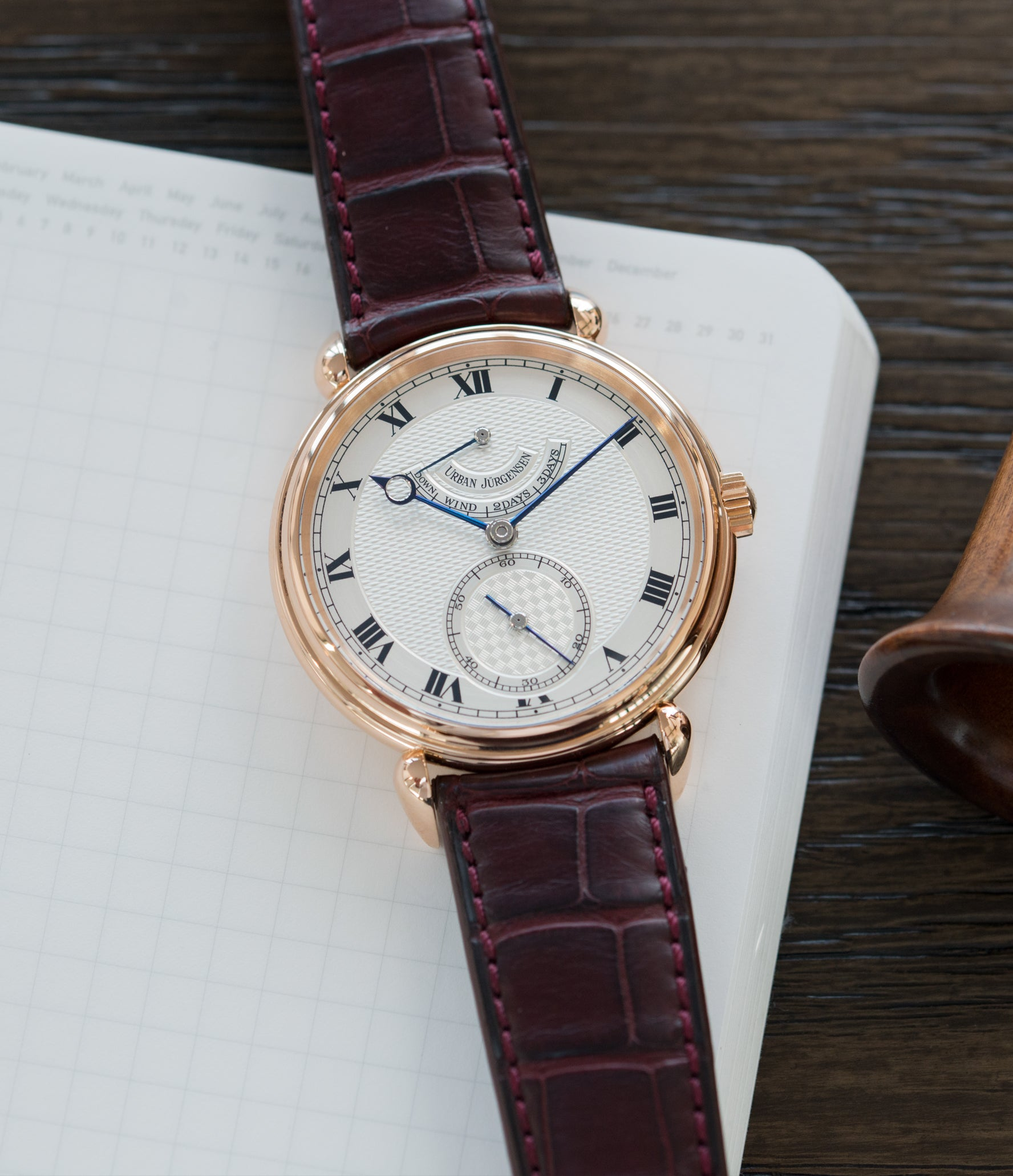 selling Urban Jurgensen 11L prototype rose gold watch full set at A Collected Man London United Kingdom online specialist of independent watchmakers