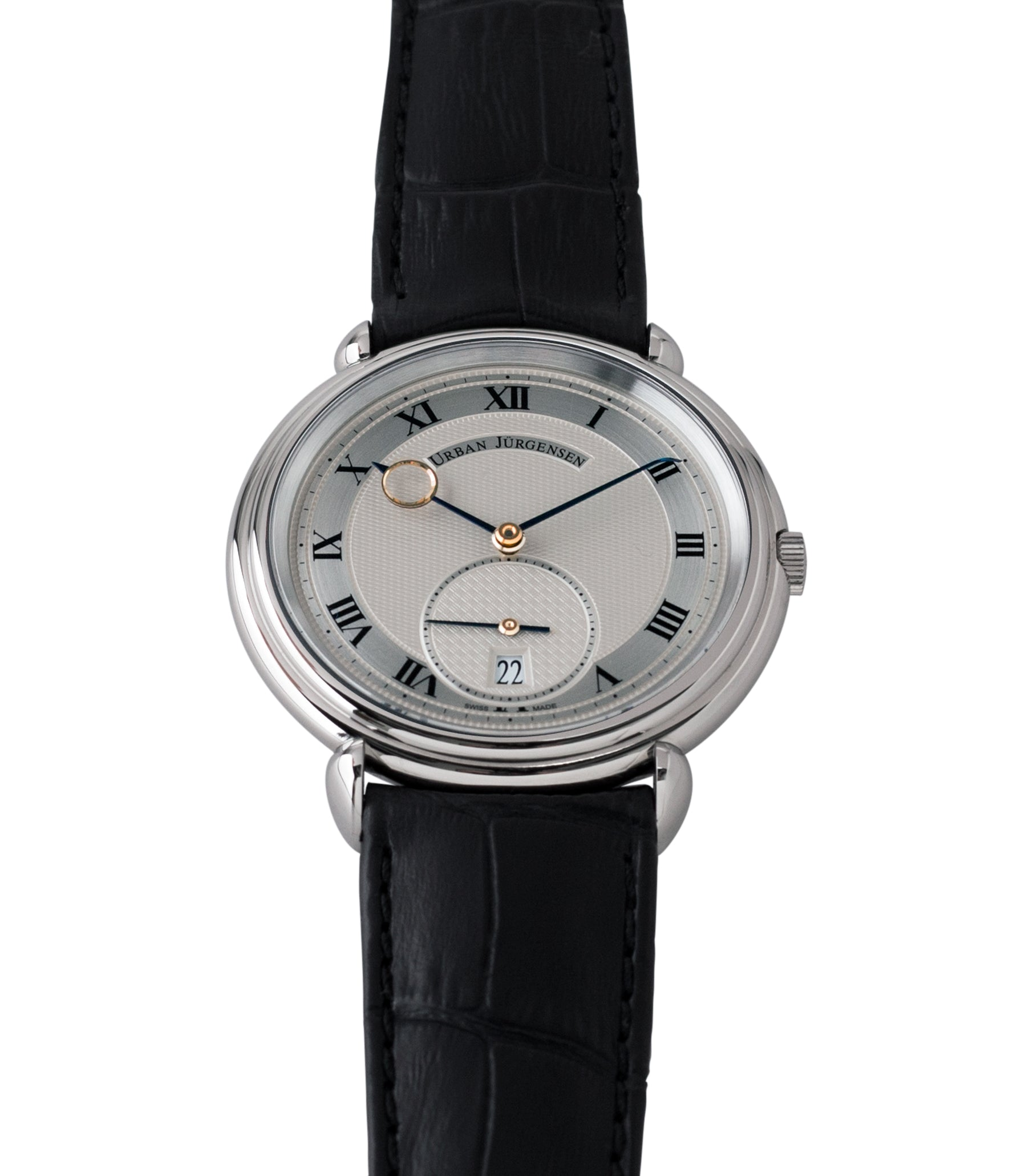gent's dress watch Urban Jurgensen Big8 steel watch online at A Collected Man London specialist retailer of independent watchamkers