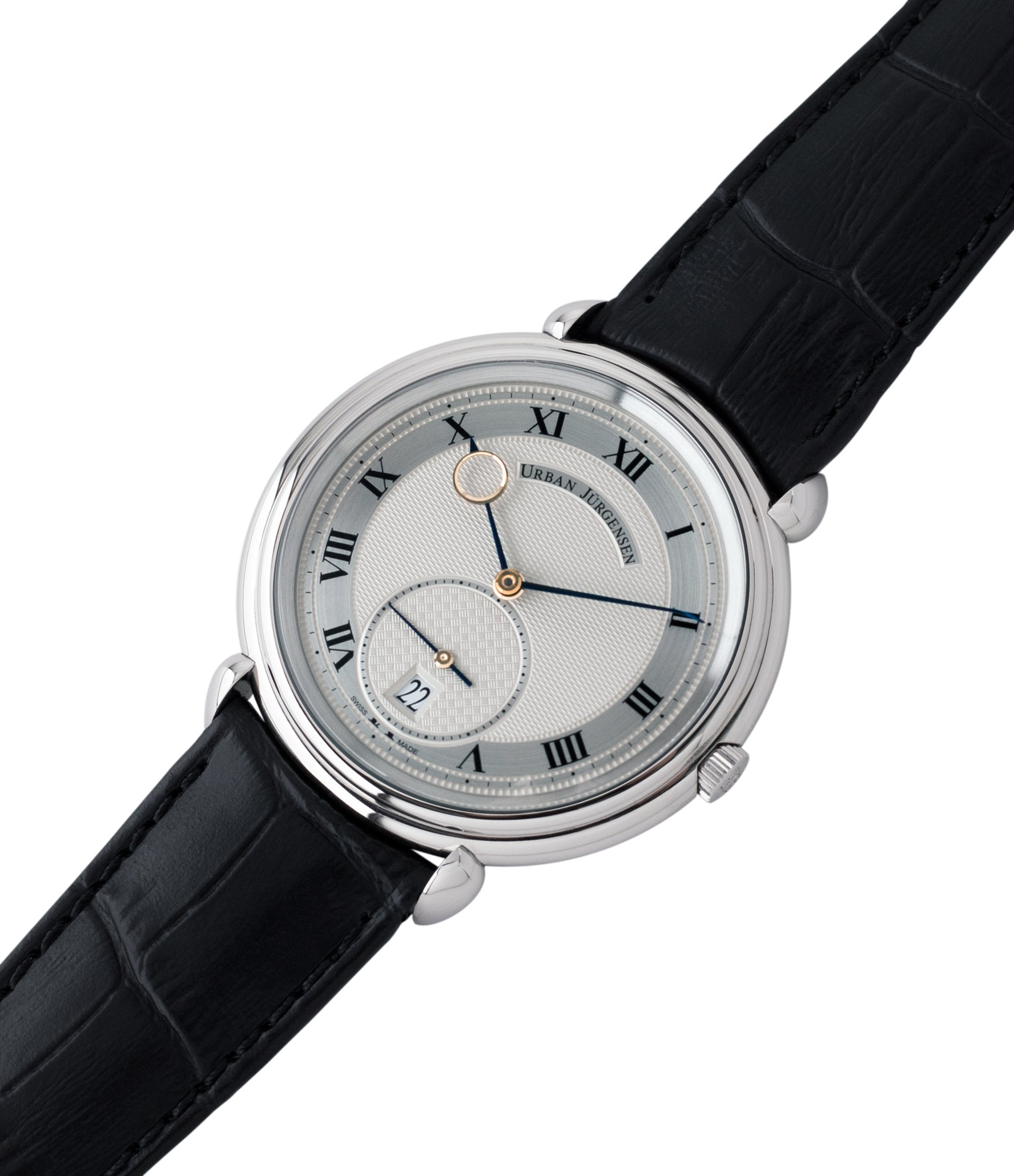 steel Urban Jurgensen Big8 watch online at A Collected Man London specialist retailer of independent watchamkers