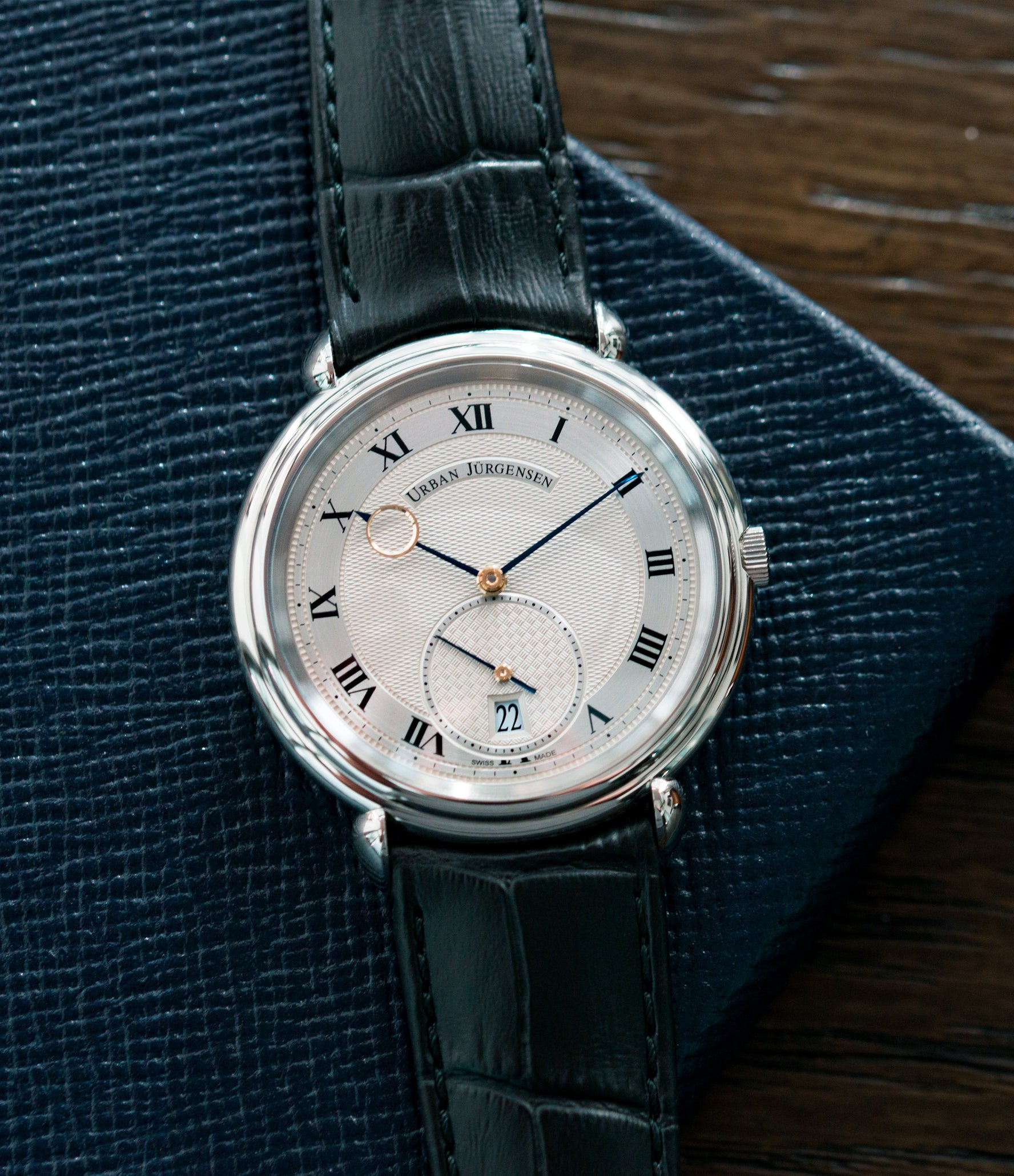 sell Urban Jurgensen Big8 steel watch online at A Collected Man London specialist retailer of independent watchamkers