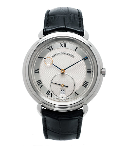 buy Urban Jurgensen Big8 steel watch online at A Collected Man London specialist retailer of independent watchamkers
