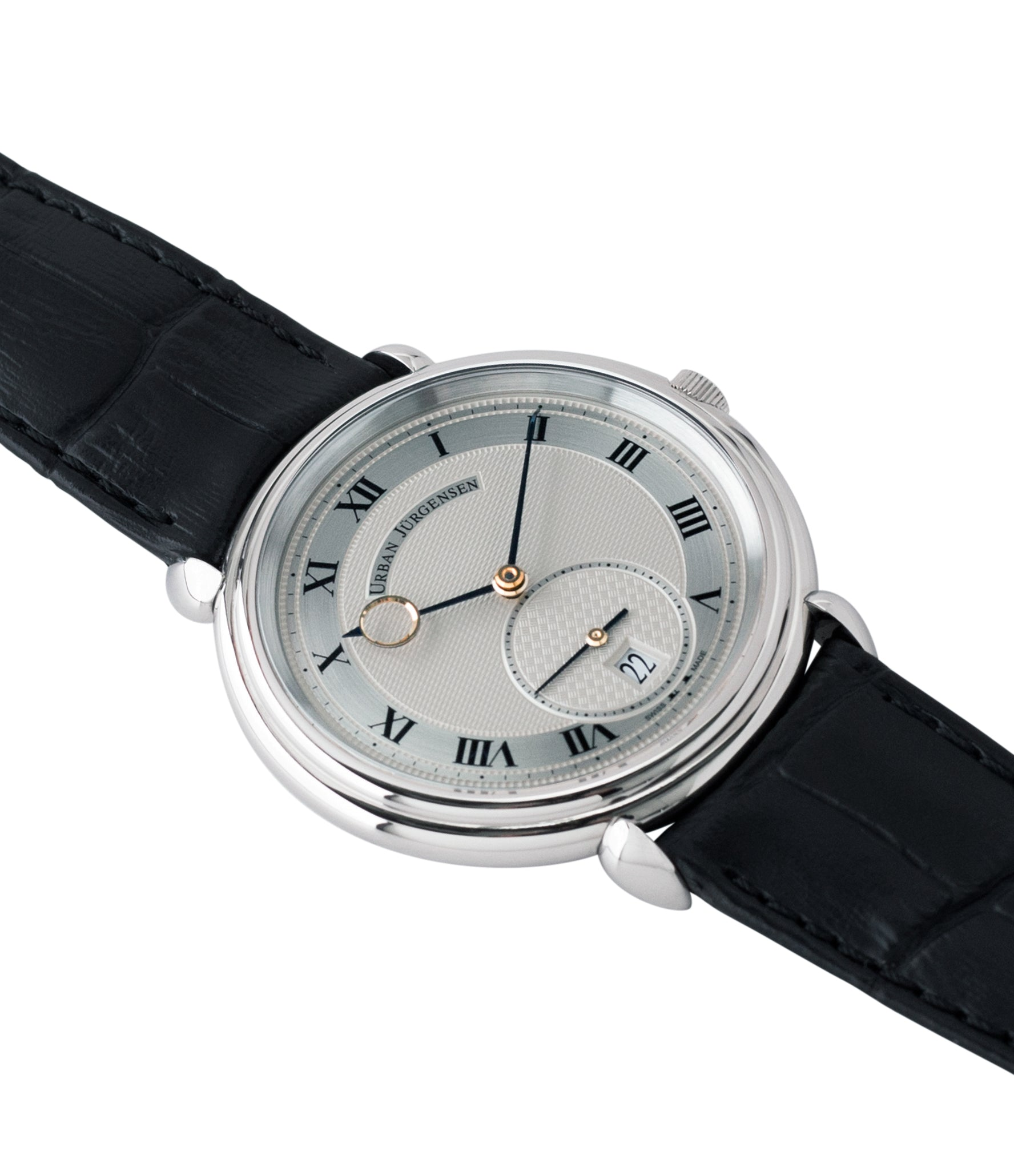 new Urban Jurgensen Big8 steel watch online at A Collected Man London specialist retailer of independent watchamkers