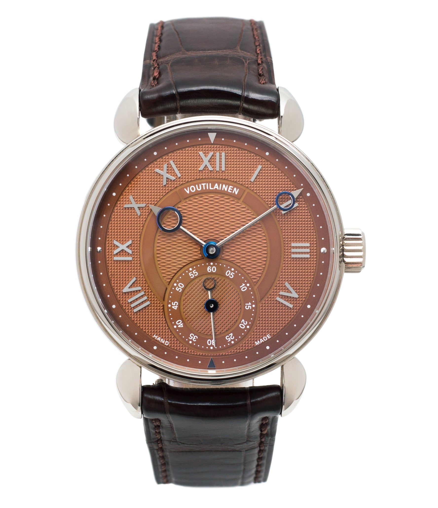 buy Kari Voutilainen Observatoire Limited Edition rare brown dial watch online at A Collected Man London specialist endorsed seller of pre-owned independent watchmakers