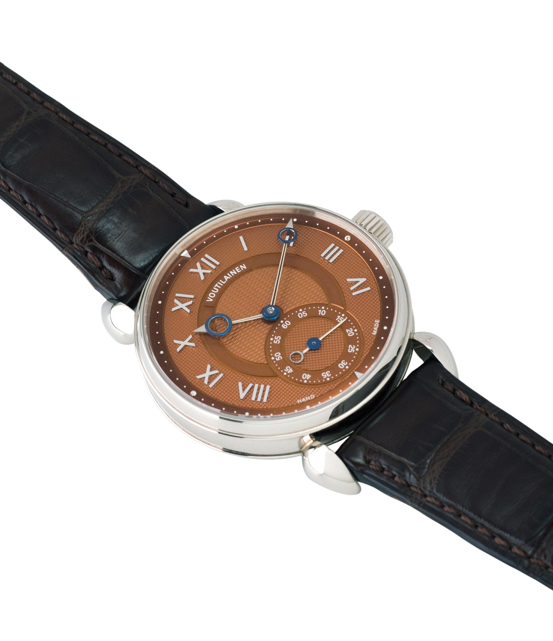selling Kari Voutilainen Observatoire Limited Edition rare brown dial watch online at A Collected Man London specialist endorsed seller of pre-owned independent watchmakers