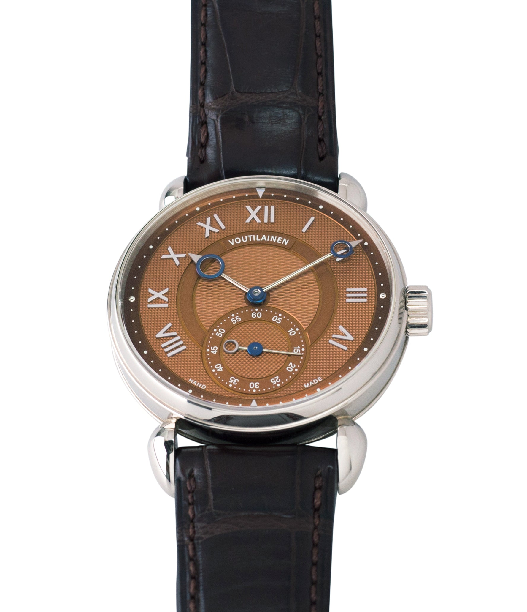 selling preowned Kari Voutilainen Observatoire Limited Edition rare brown dial watch online at A Collected Man London specialist endorsed seller of pre-owned independent watchmakers