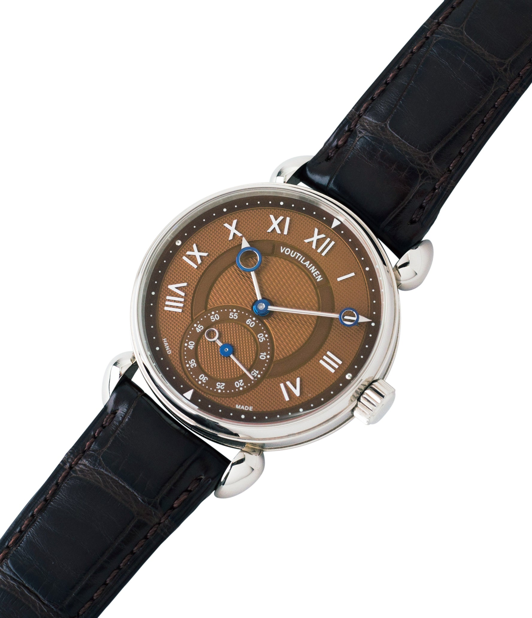 shop Kari Voutilainen Observatoire Limited Edition rare brown dial watch online at A Collected Man London specialist endorsed seller of pre-owned independent watchmakers