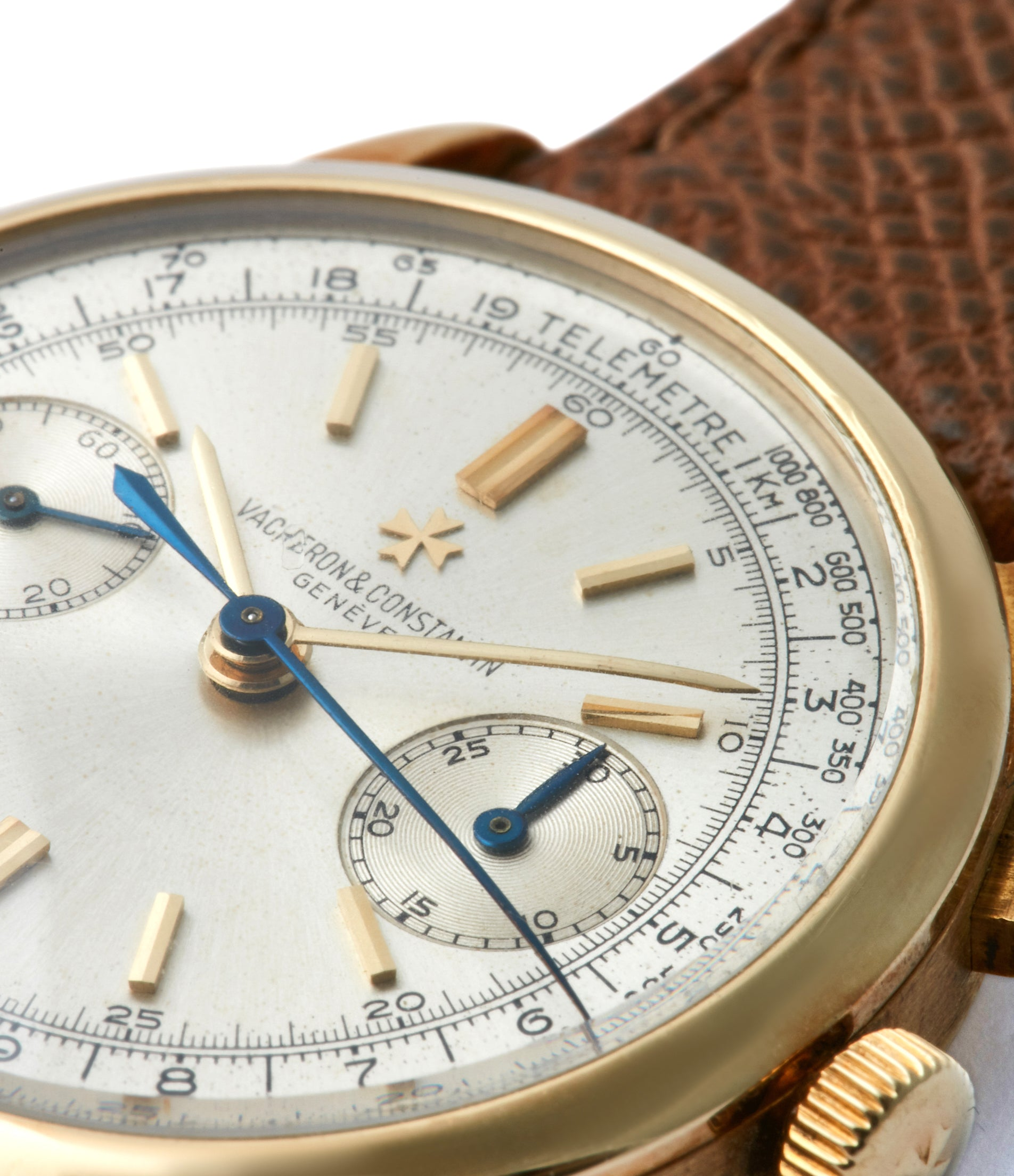 silver dial Vacheron Constantin Chronograph Ref. 4072 yellow gold rare vintage dress watch for sale A Collected Man London British specialist rare watches