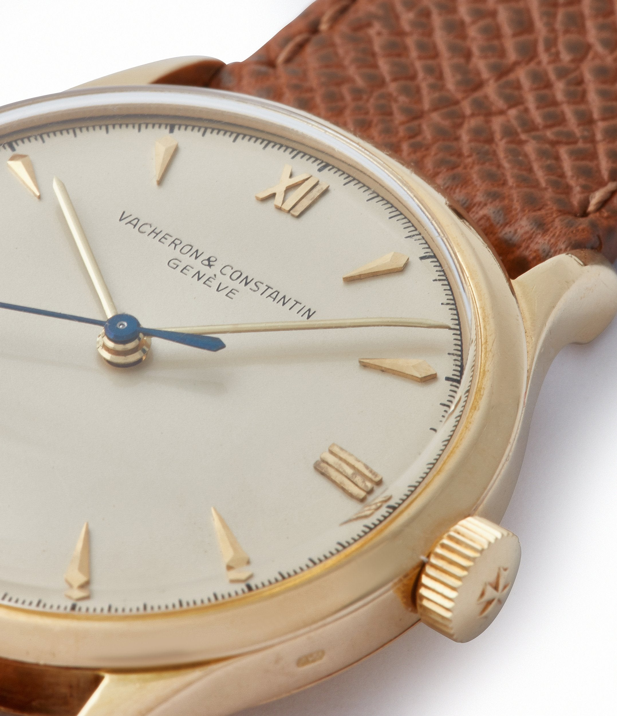 champagne dial Roman numerals Vacheron Constantin Ref. 4127 vintage time-only yellow gold dress watch for sale online A Collected Man London UK specialist rare watches