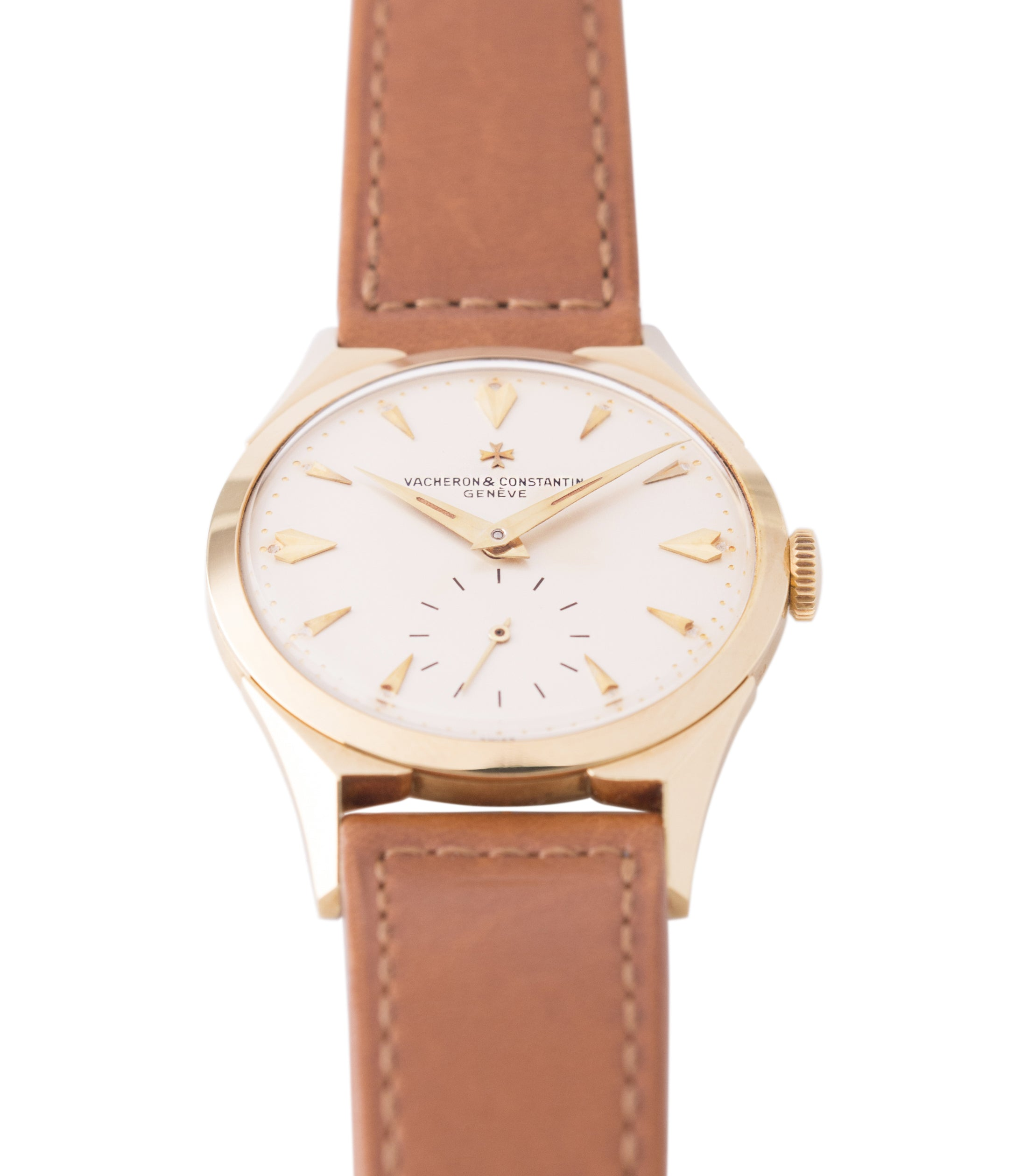 shop Vacheron Constantin 6066 yellow gold time-only dress watch for sale online at A Collected Man London UK specialist of rare watches