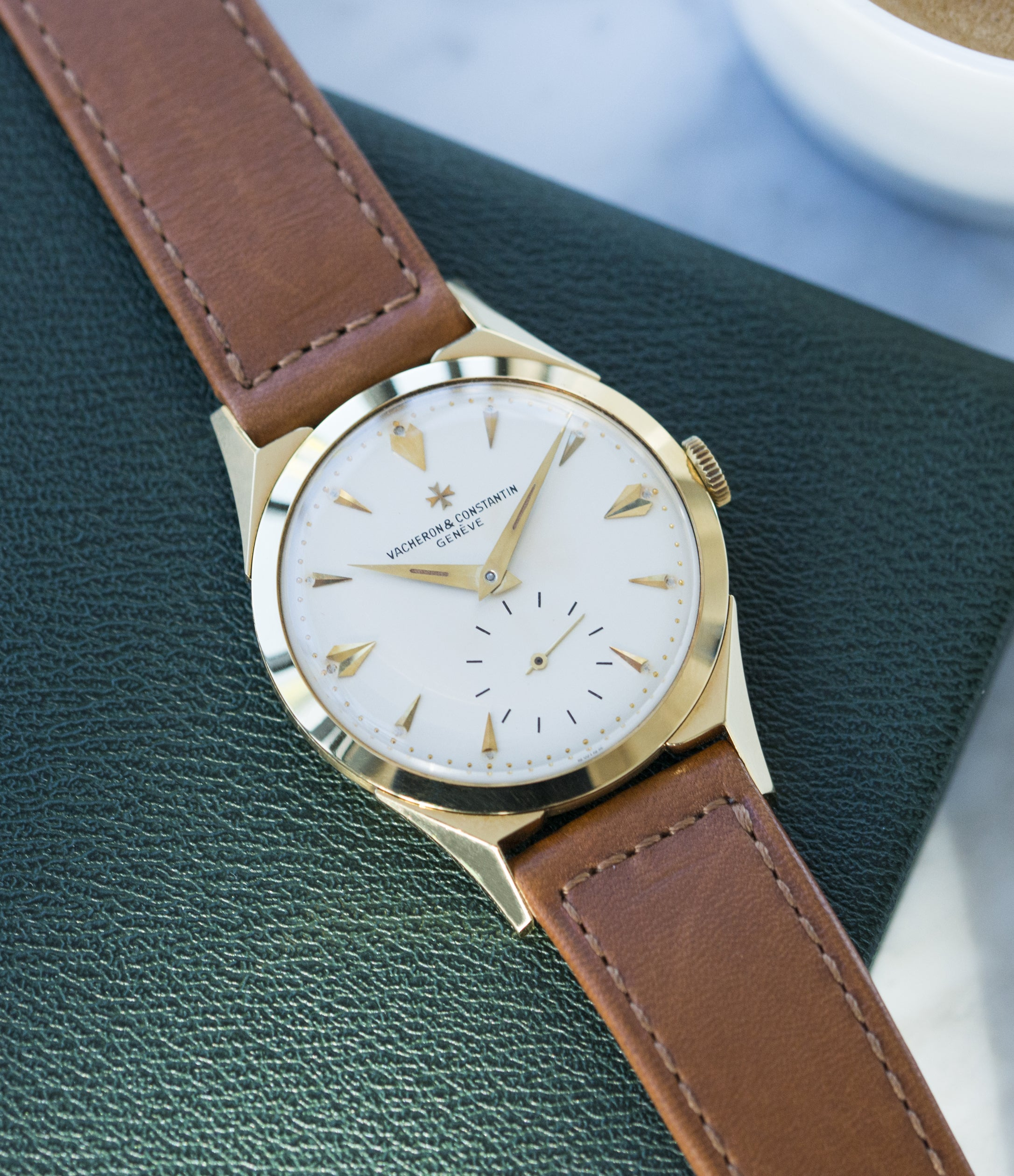 vintage Vacheron Constantin 6066 yellow gold time-only dress watch for sale online at A Collected Man London UK specialist of rare watches