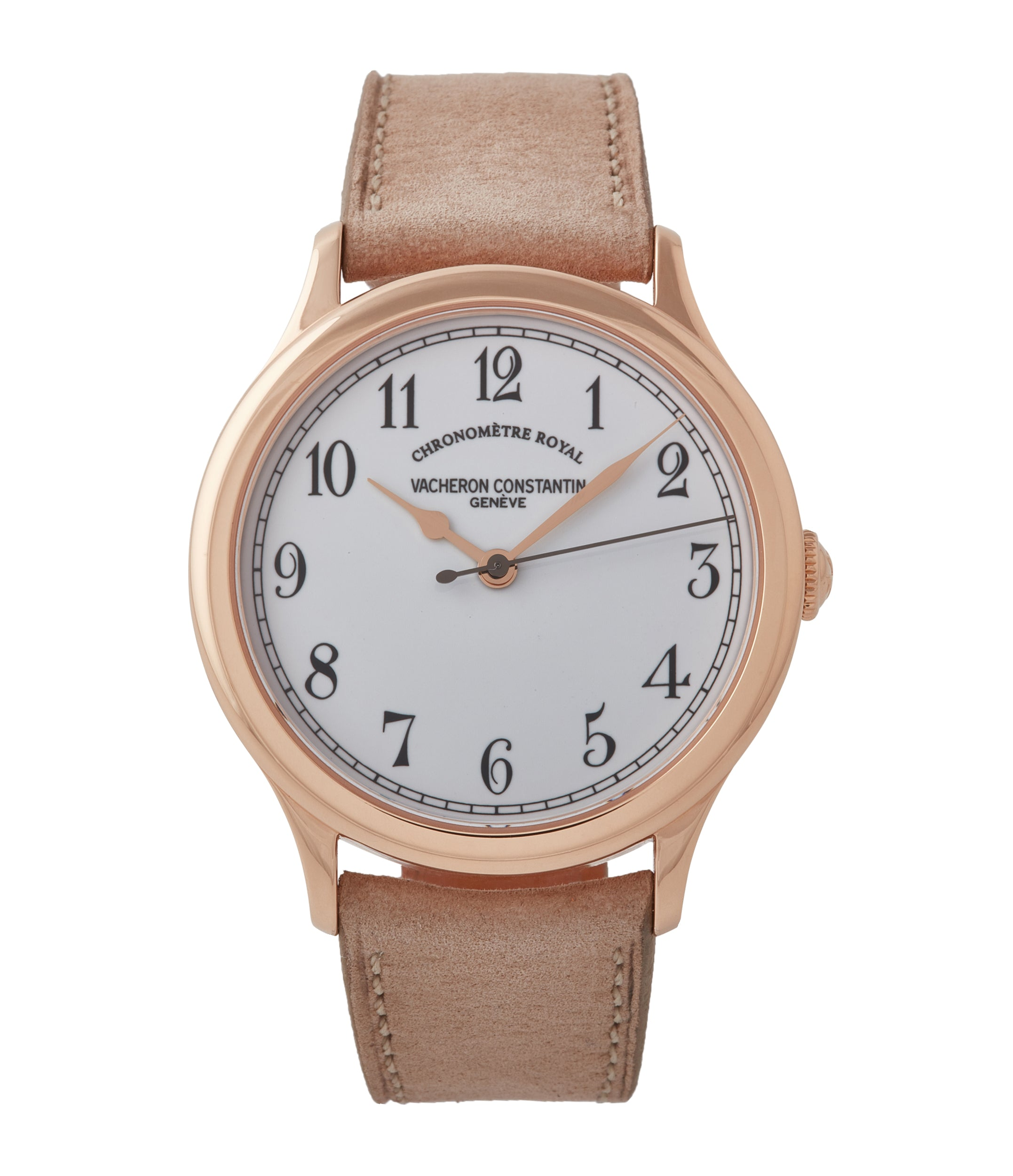 buy Vacheron Constantin Historiques Chronometre Royal 1907 86122/000R-9362 rose gold time-only dress watch for sale online at A Collected Man London