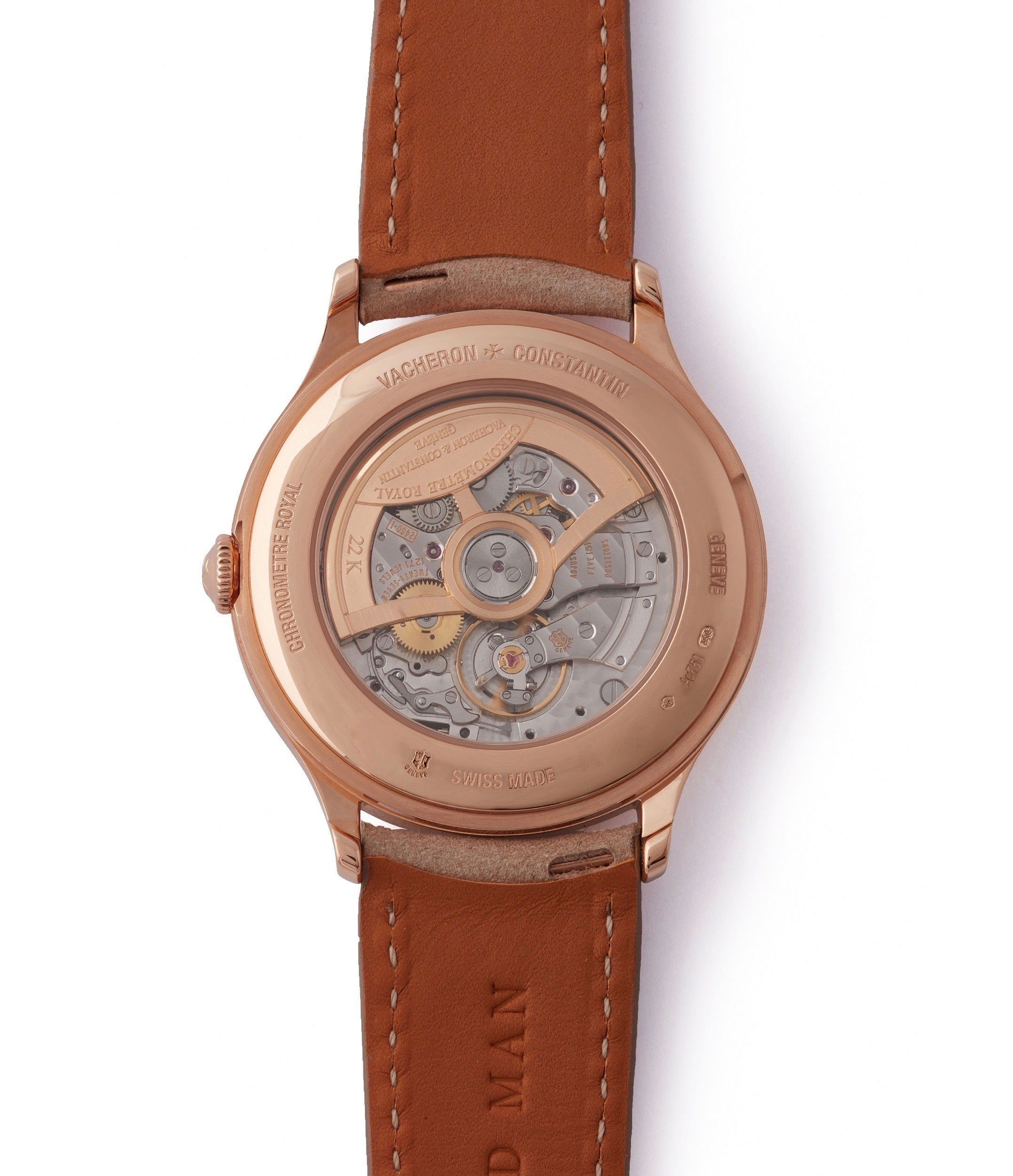 automatic Vacheron Constantin Historiques Chronometre Royal 1907 86122/000R-9362 rose gold time-only dress watch for sale online at A Collected Man London