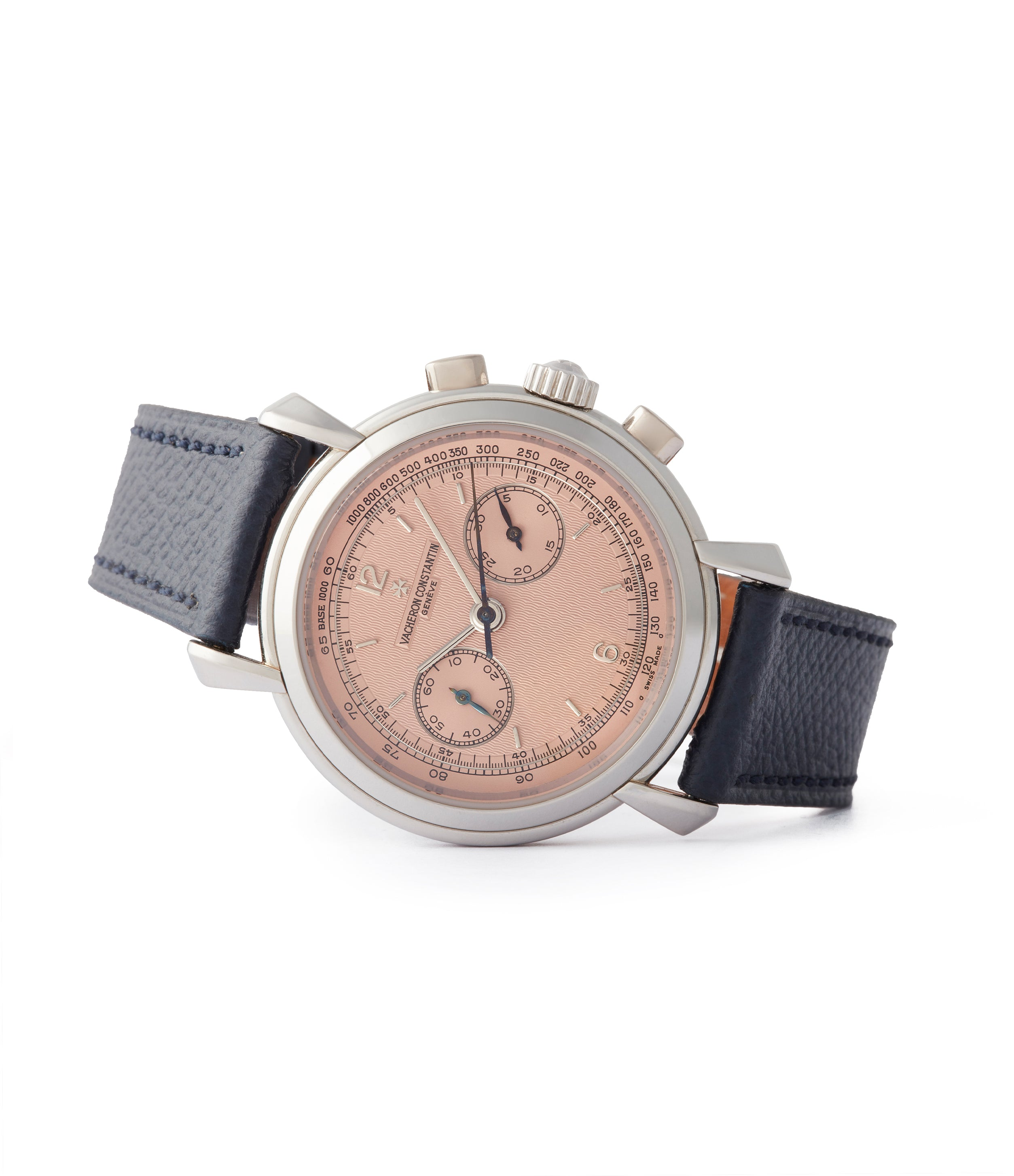 selling Vacheron Constantin Les Historiques Chronograph 47111/000P platinum salmon dial dress watch for sale online A Collected Man London UK specialist rare watches