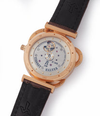 hand-made Cal. VH198 automatic in-house early Vianney Halter Antiqua Perpetual Calendar rose gold independent watchmaker for sale online at A Collected Man London UK specialist of rare watches